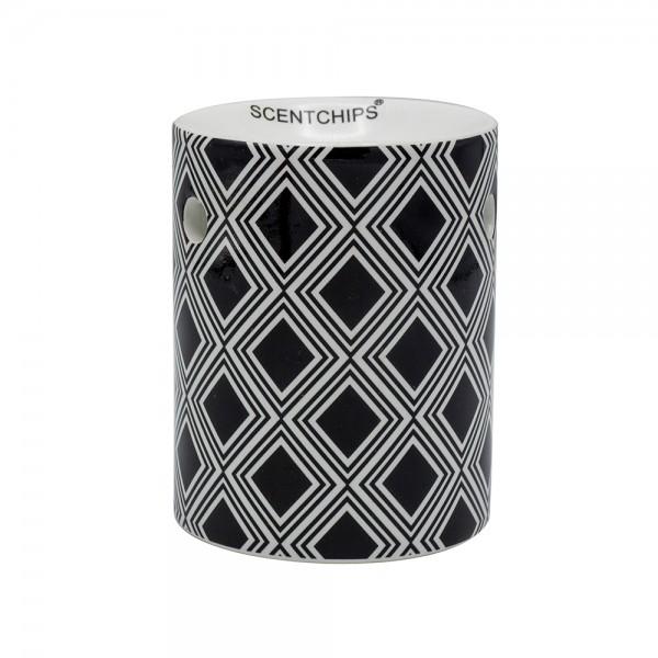 Scentchips Burner Black+White Quadrants 534949-V001 by Scentchips