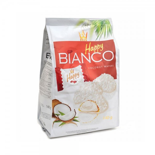 BIANCO WAFERS COCONUT CREAM FILLING WHITE COATING 535037-V001 by Flis Happy