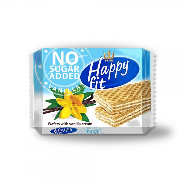 FIT VANILLA WAFERS WITH CREAM LAYER NO SGR ADD 535045-V001 by Flis Happy