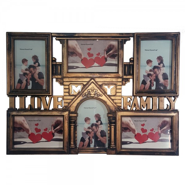 H.Goods Photo Frame Plastic White Blk Anc Copper 535082-V001 by Home Collection