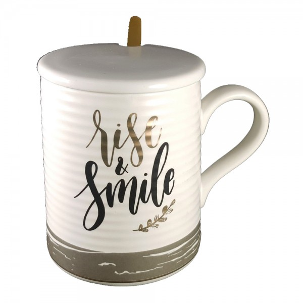H.Goods Mug Rise Smile 535086-V001 by Home Collection