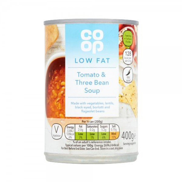 GOOD LIFE TOMATO + THREE BEAN SOUP 535496-V001 by Co op