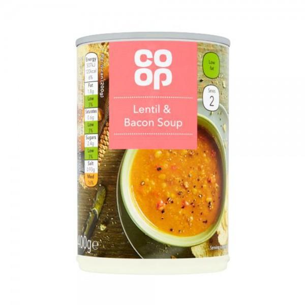 LENTIL + BACON SOUP 535498-V001 by Co op