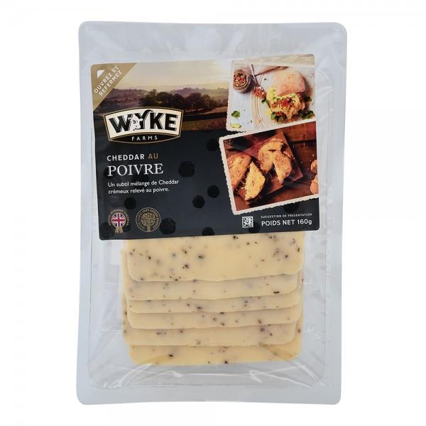 Wyke Sliced Cheddar With Black Pepper 535681-V001 by Wyke Farms