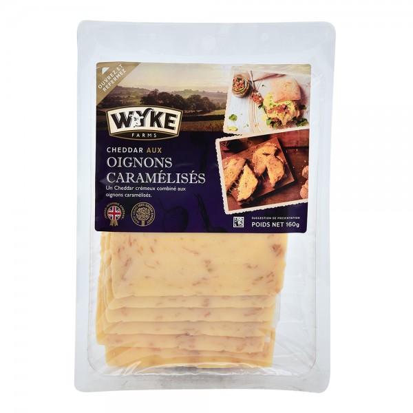Wyke Sliced Cheddar With Caramelized Onions 535684-V001 by Wyke Farms
