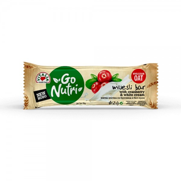 Vitalia Cereal Bar Cranberry & White Cream 535892-V001 by Vitalia