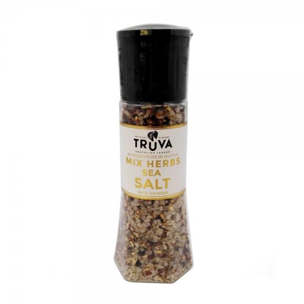 Truva Mixed Herb Sea Salt with Grinder 535997-V001 by Truva