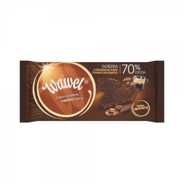Wawel Dark Chocolate 70% Cocoa with Coffee and Nibs 536626-V001 by Wawel
