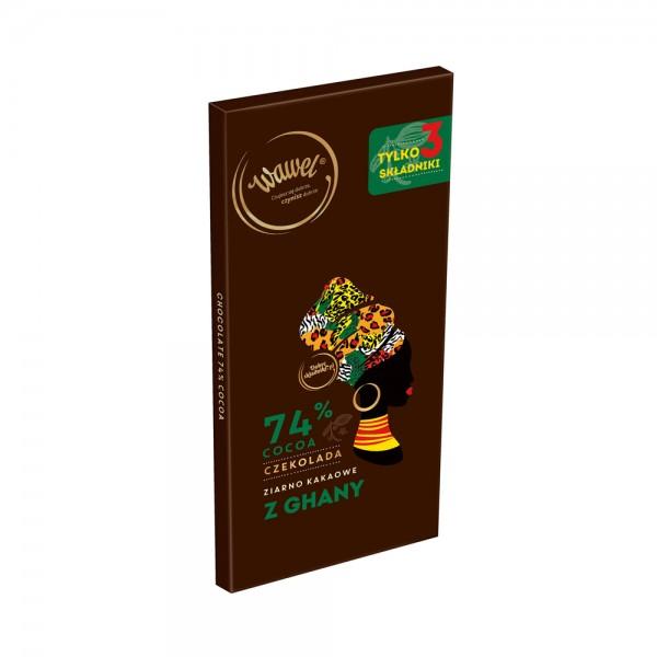 Wawel Dark Chocolate 74% Cocoa Ghana 536627-V001 by Wawel