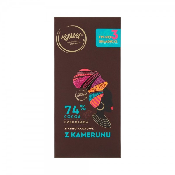 Wawel Dark Chocolate 74% Cocoa Cameroon 536628-V001 by Wawel