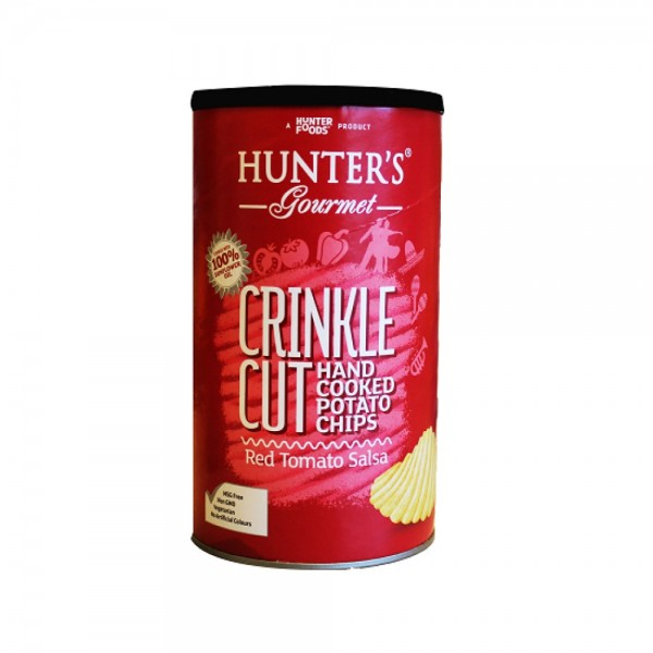 Hunters Crinkled Tomato Salsa Chips Can 536840-V001 by Hunter Foods