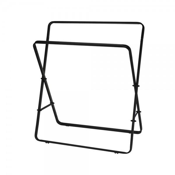 B.Solution Free-Standing Black Towel Rack 80X70X30Cm 536894-V001 by Bathroom Solutions