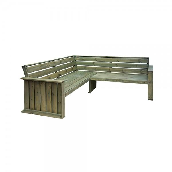 Eh Wooden Corner Garden Bench 210X210X78Cm 536905-V001 by EH Excellent Houseware