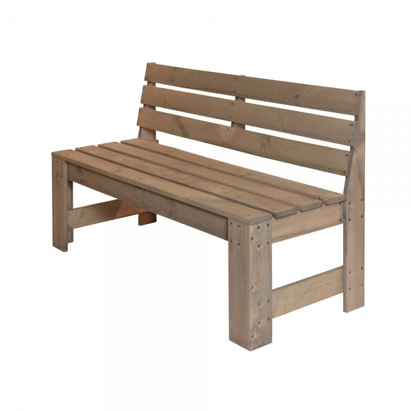 Eh Wooden Bench With Backrest 536906-V001 by EH Excellent Houseware
