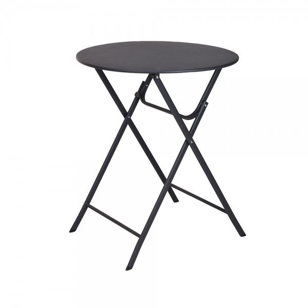 Pro-Garden Table Foldable Round Anthracite 536907-V001 by Pro Garden Collection