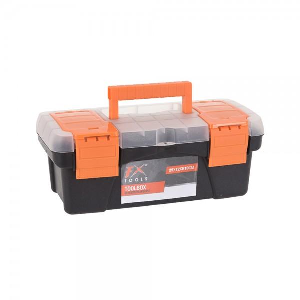 TOOL BOX BLACK AND ORANGE 25X13X10CM 536913-V001 by FX Tools