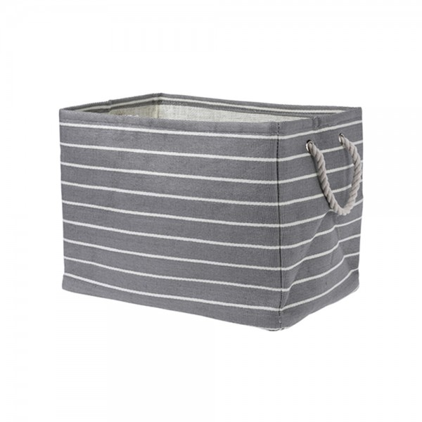 RECTANGLE STORAGE BASKET + WHITE STRIPE 536917-V001 by EH Excellent Houseware