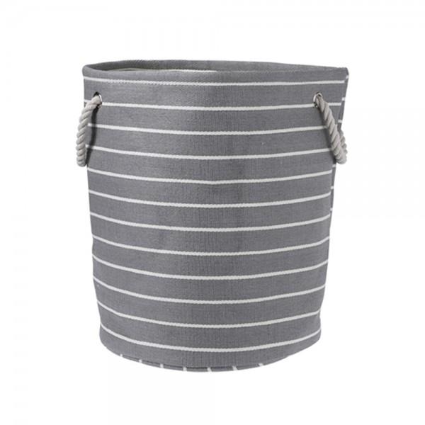ROUND STORAGE BASKET + WHITE STRIPE 536918-V001 by EH Excellent Houseware