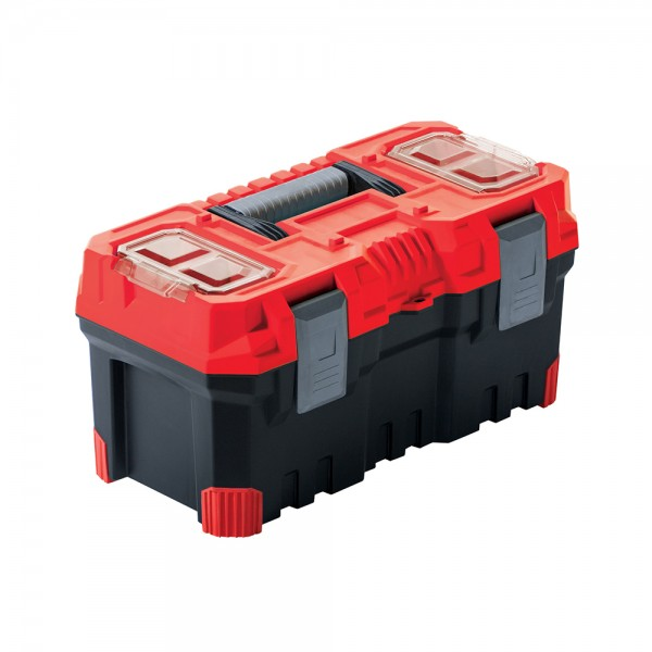 TOOL BOX BLACK WITH RED LID 50X25X24CM 536926-V001 by FX Tools