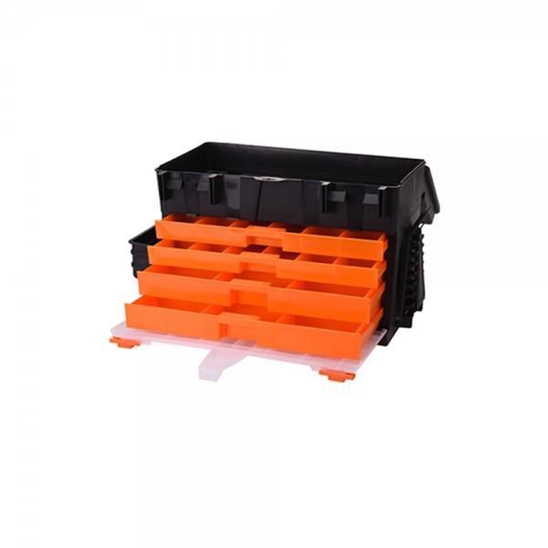 TOOL BOX FISHING CASE BLACK+ORANGE 45X26X32CM 536927-V001 by FX Tools