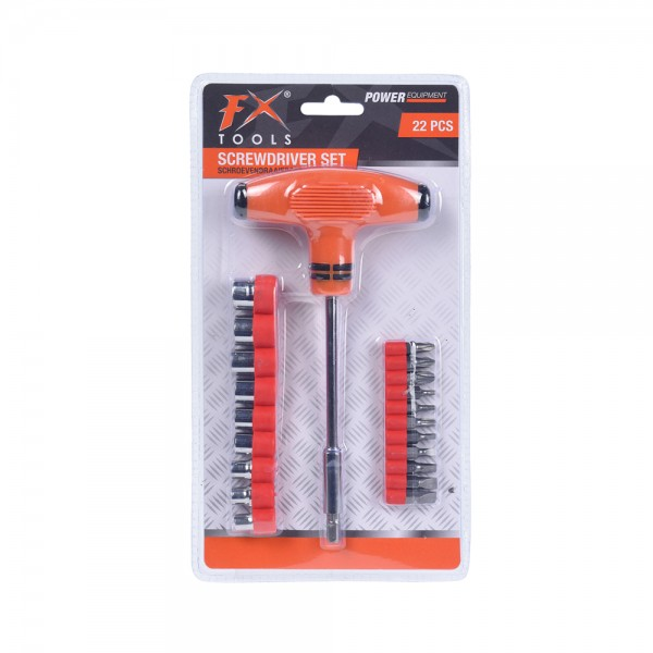 T-SCREWDRIVER KIT+INTERCHANGEABLE TIPS 536940-V001 by FX Tools