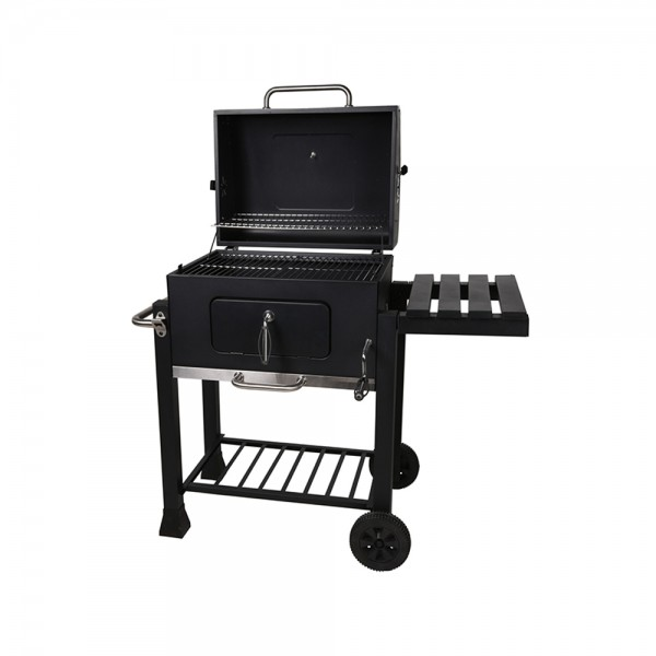 Bbq Charcoal Bbq On Wheel Black + Table 536959-V001 by BBQ