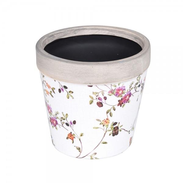 Eh Flower Pot Ceramic Flowerprint 536962-V001 by EH Excellent Houseware