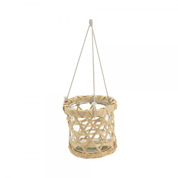 HANGING FLOWER POT GLASS 536987-V001 by EH Excellent Houseware
