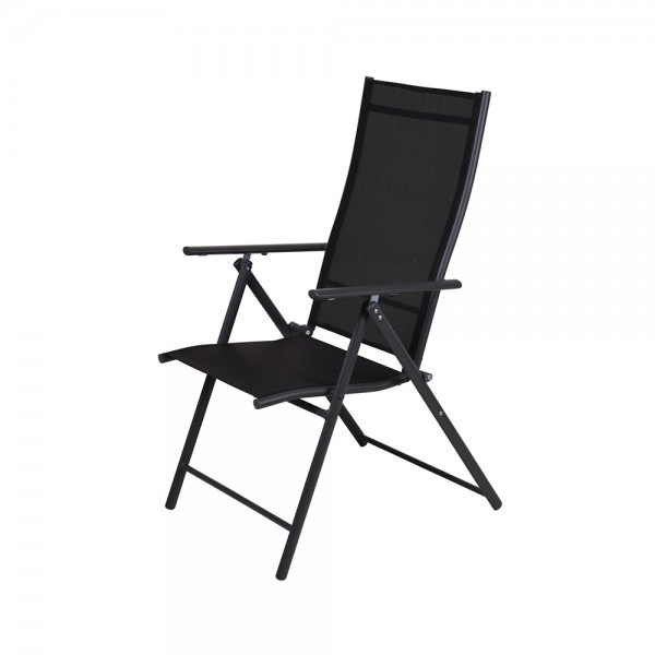 Pro-Garden Folding Chair Steel Dark Grey 59X108Cm 536999-V001 by Pro Garden Collection