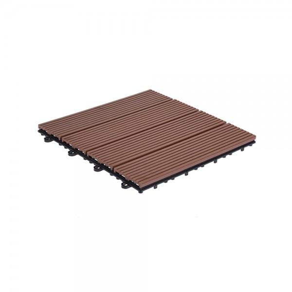 Pro-Garden Decking Tile Set Wpc Brown 537000-V001 by Pro Garden Collection