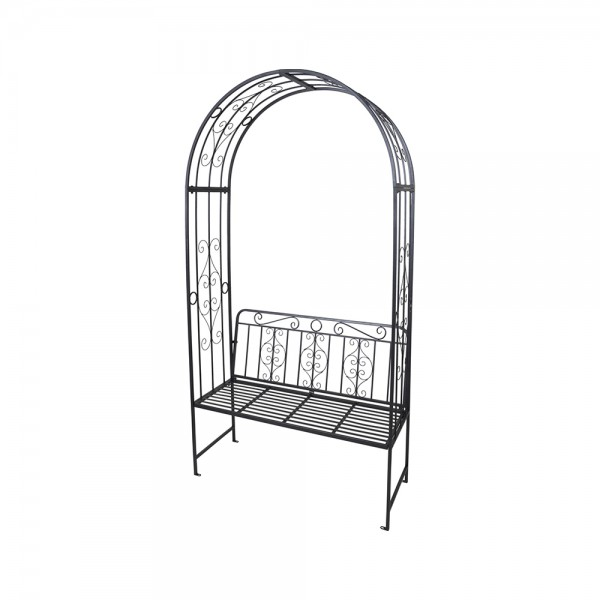 Eh Garden Bench Rose Arch Metal 121X53Cm 537002-V001 by EH Excellent Houseware