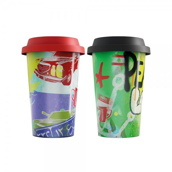 Nestle Travel Mug Porcelain With Silicone Lid 537343-V001 by Nestle