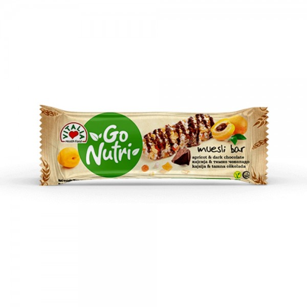 Vitalia Cereal Bar Apricot & Dark Chocolate 537375-V001 by Vitalia