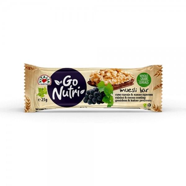 Vitalia Cereal Bar Raisins & Cocoa 537377-V001 by Vitalia