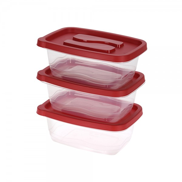 STORAGE CONTAINER SET PLASTIC 1130ML 537591-V001 by EH Excellent Houseware