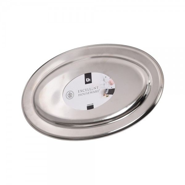 SERVING PLATE STAINLESS STEEL 34X21.5CM 537593-V001 by EH Excellent Houseware