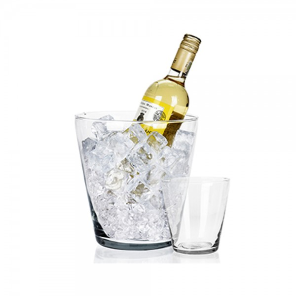 ICE BUCKET GLASS 19.5X20CM 537624-V001 by EH Excellent Houseware