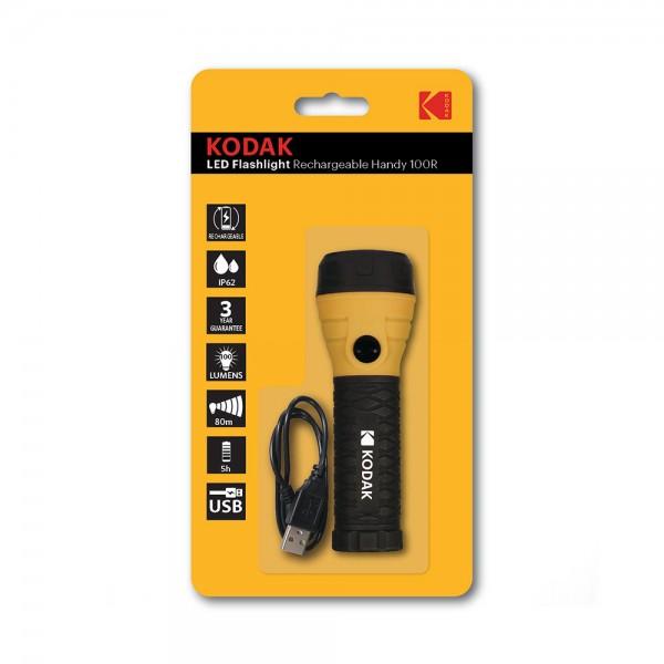 LED FLASHLIGHT RECHARGEABLE 100 LUMENS 538291-V001 by Kodak