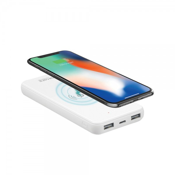 POWER BANK TEMPRD GLSS WIRLSS CHARG 2OUT PRT+DUAL 538902-V001 by Promate