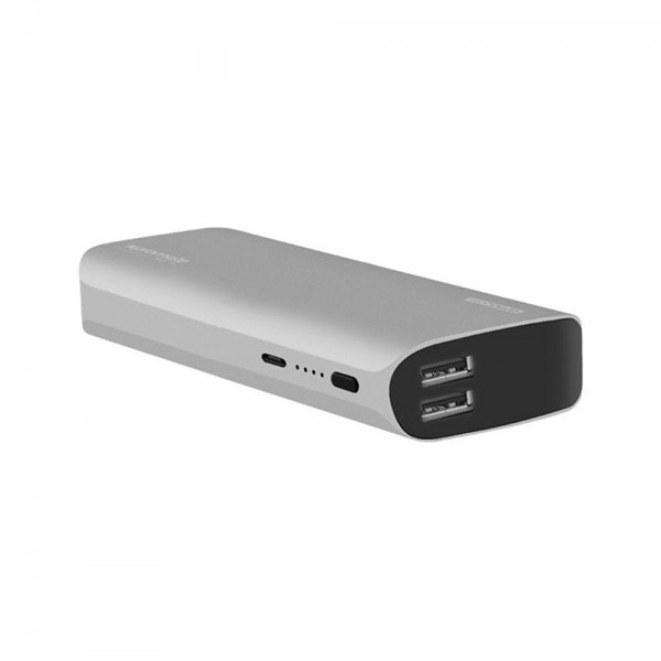 POWER BANK ALUMINIUM DUAL USB PORTS+FREE CABLE 538904-V001 by Promate