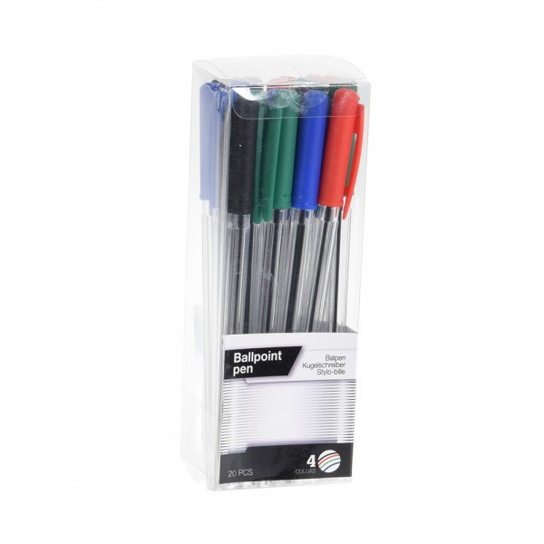 BALLPOINT PENS  4 COLORS 540252-V001 by EH Excellent Houseware