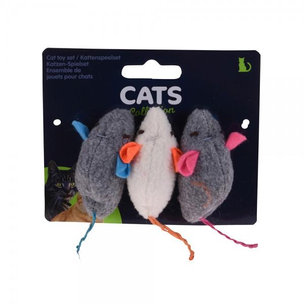 CAT TOY S.3 MICE +CATNIP 540386-V001 by PT