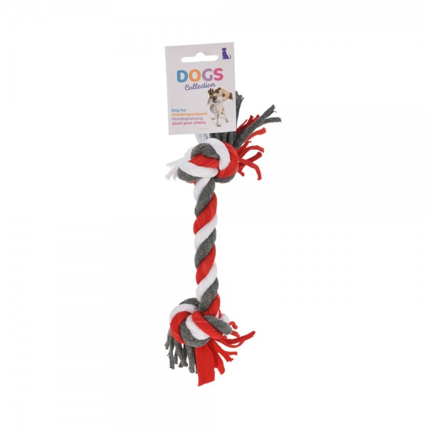 DOG TOY ROPE 24CM 3ASS CLR 540391-V001 by PT