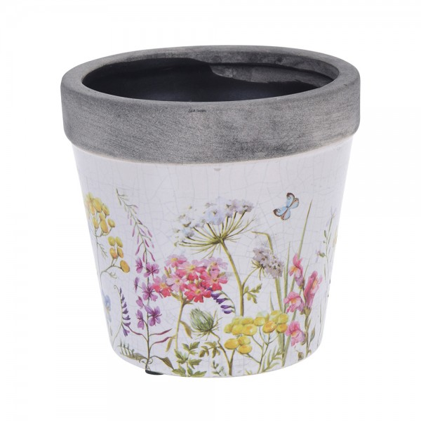 FLOWER POT CERAMIC MIXED DESIGN 540528-V001 by Pro Garden Collection