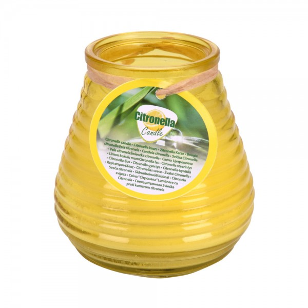 CANDLE CITRONELLA IN GLASS MIXED COLOR 540533-V001 by Pro Garden Collection