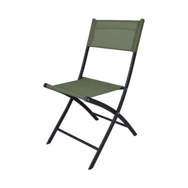 FOLDING CHAIR GREEN WOVEN POLY 540595-V001 by EH Excellent Houseware