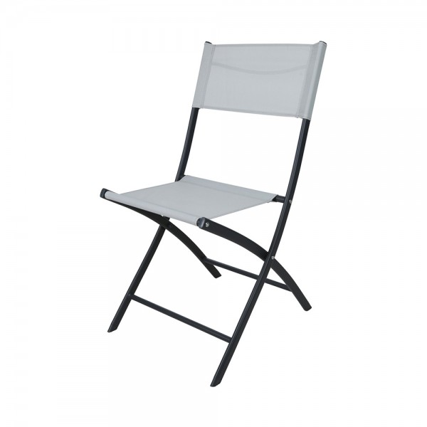 FOLDING CHAIR WHITE WOVEN POLY 540596-V001 by EH Excellent Houseware