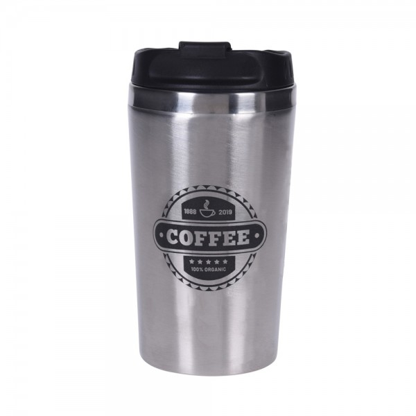 TRAVEL MUG STAINLESS STEEL MIXED DESIGN 540694-V001 by EH Excellent Houseware