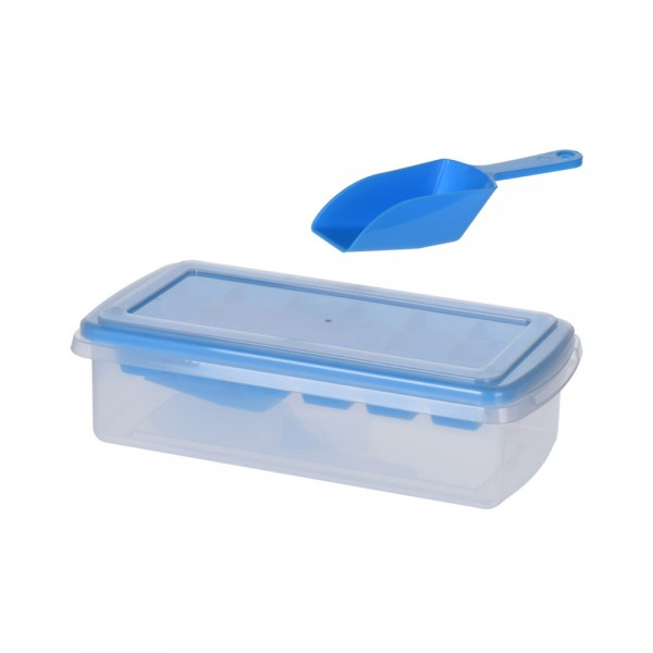 ICECUBE MAKER WITH LID +SPOON MIXED COLOR 540695-V001 by EH Excellent Houseware