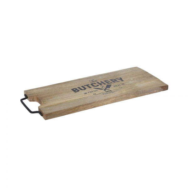 CUTTING BOARD WOOD WITH MEATL HANDLE 540719-V001 by EH Excellent Houseware